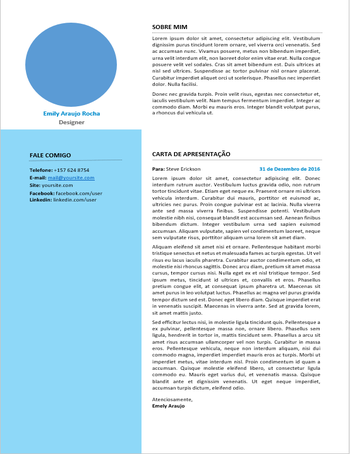 Carta Azul - Carta de apresentação