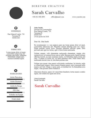 Carta Futuro - Carta de apresentação